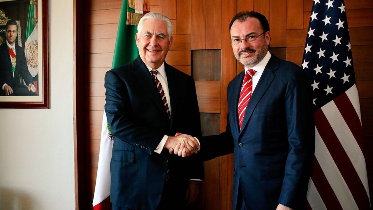 Videgaray y Tillerson centran su diálogo en la seguridad regional
