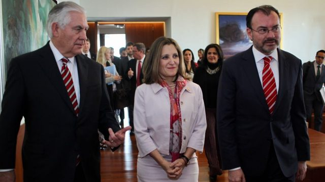 cancilleres-Tillerson-Freeland-Videgaray