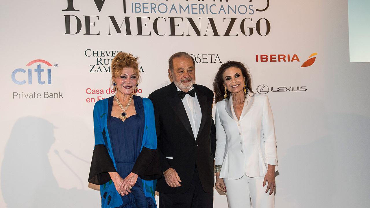 Otorgan a Carlos Slim el Premio Iberoamericano de Mecenazgo
