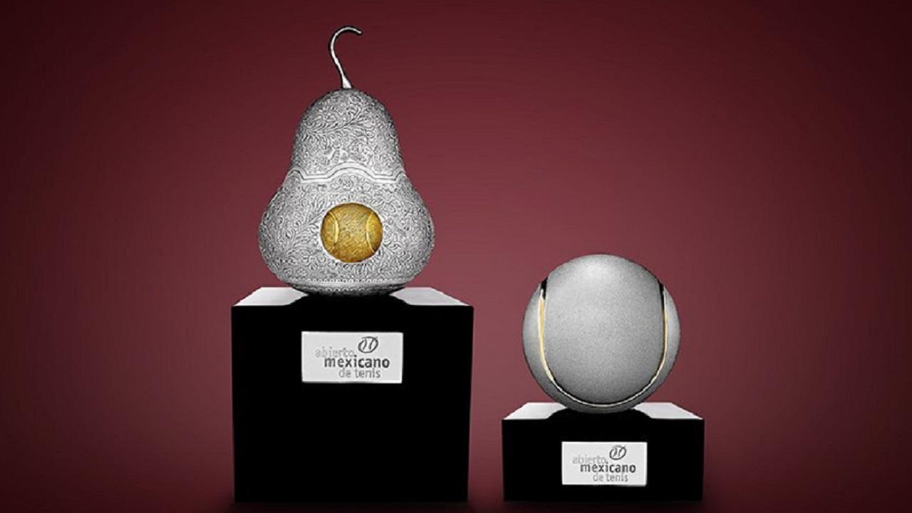 Enamórate de los trofeos del Abierto Mexicano de Tenis