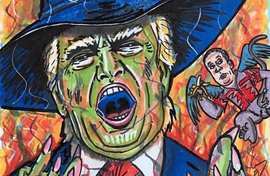 Jim Carrey publica caricaturas sobre personajes de la Casa Blanca