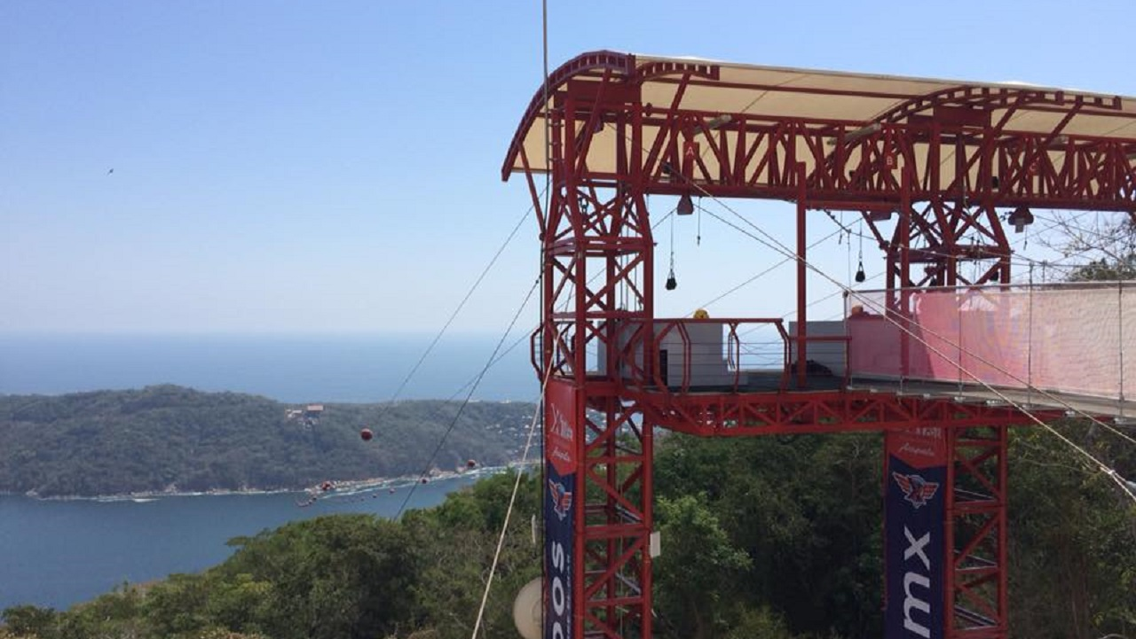 XTASEA, tirolesa, Acapulco, aventura, MAR