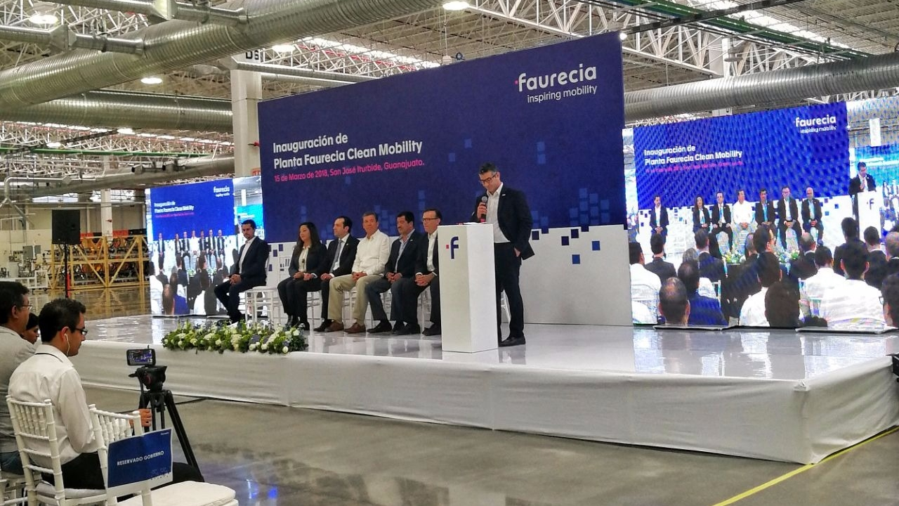 Faurecia inaugura planta de autopartes en Guanajuato; invierte 86 mdd