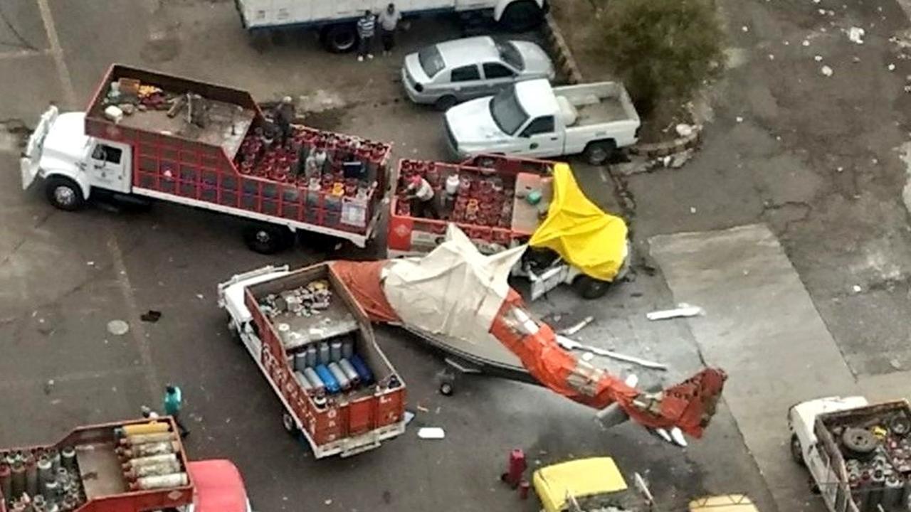 Helicóptero se desploma en gasera en San Juanico; deja lesionados