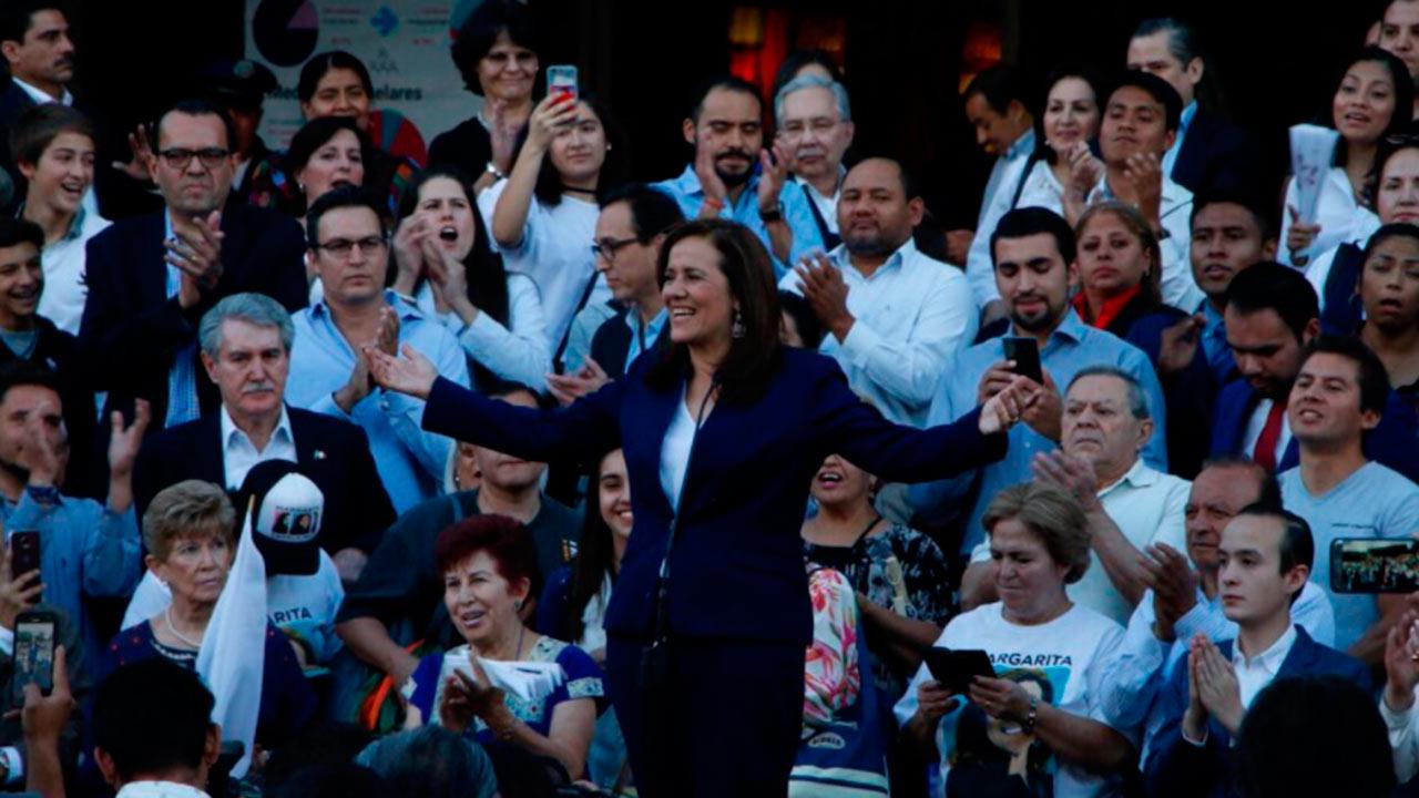 PAN y PRI salen a la búsqueda del apoyo de Margarita Zavala
