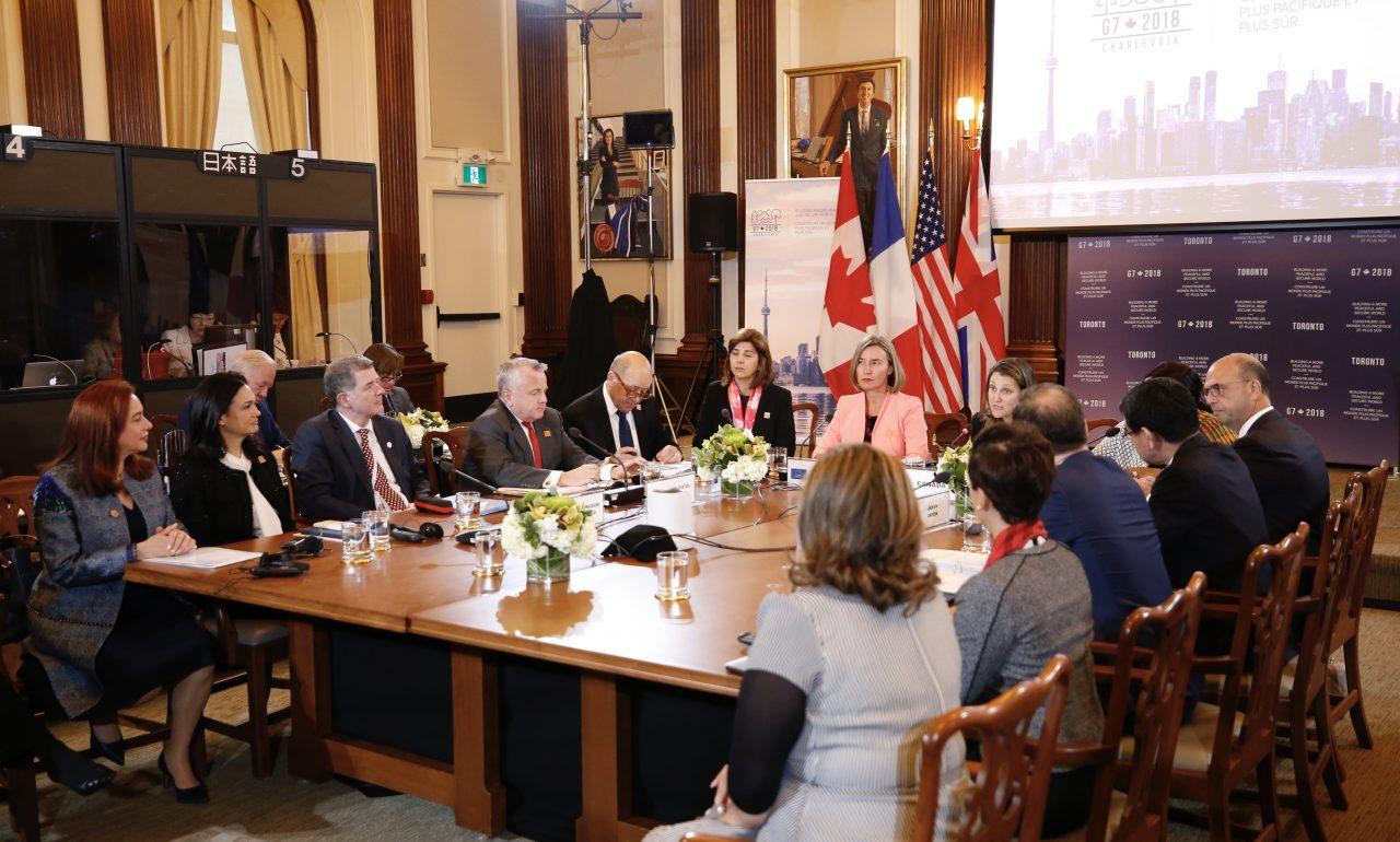 Ministros del G7 buscan presionar Rusia e Irán