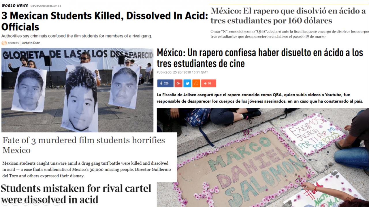 Así vio la prensa internacional el caso de los estudiantes de Jalisco