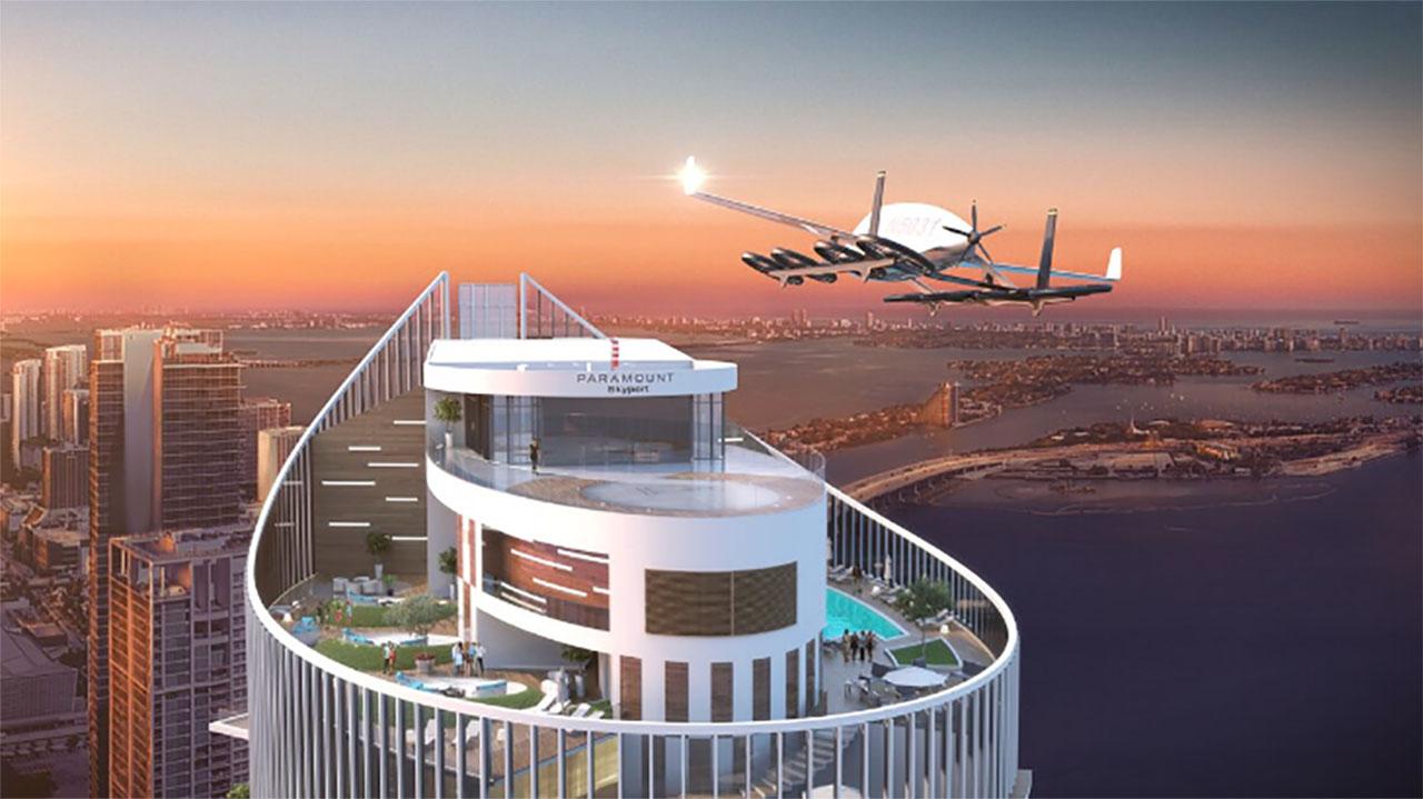 Construyen el primer estacionamiento para autos voladores en EU