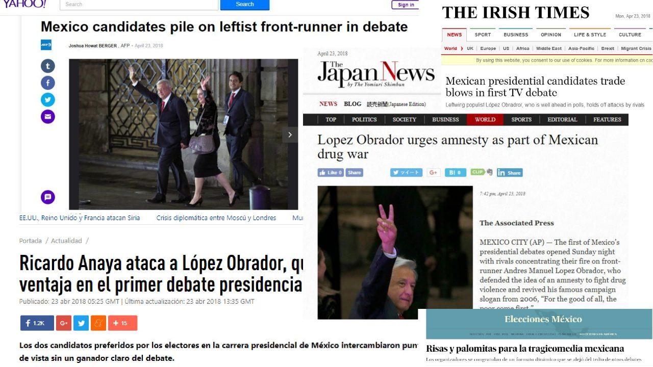 Así vio la prensa internacional el debate presidencial de México