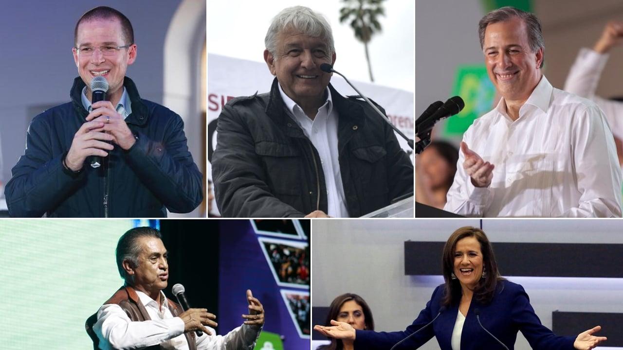 AMLO lidera con pérdidas; Anaya y Meade crecen: encuesta México Elige/SDPNoticias