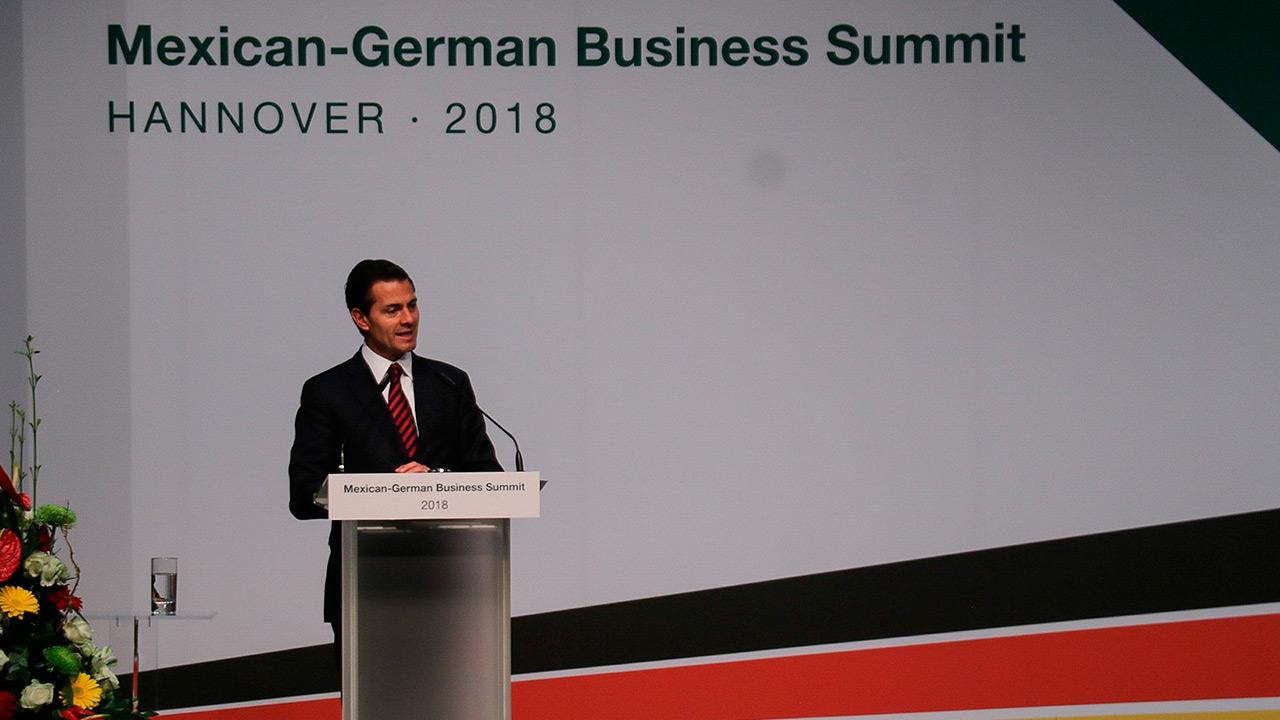 Relación comercial con Alemania vale 23,400 mdd: Peña Nieto