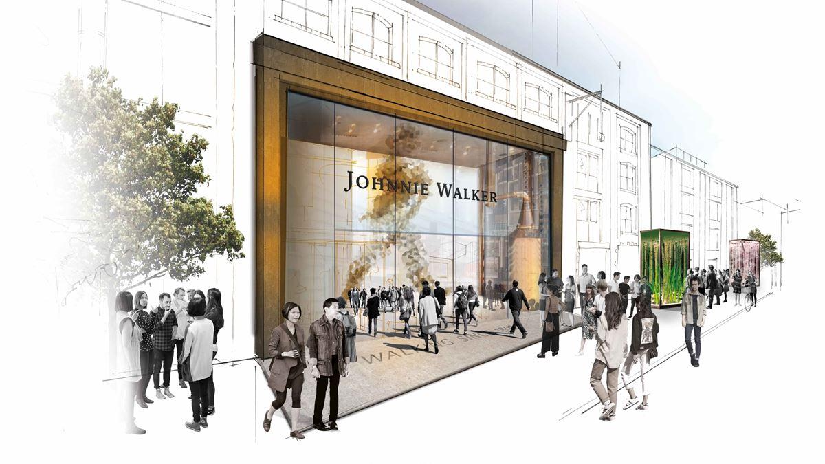 Johnnie Walker construye el reino del whisky en Edimburgo