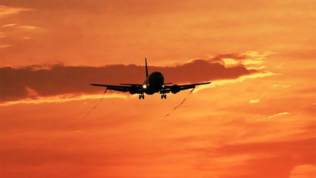 avión, vuelo, viajar