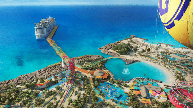 Royal Caribbean, CocoCay, Bahamas, crucero, resort, isla