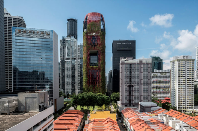 arquitectura, diseño, RIBA, Oasia Hotel, Singapur