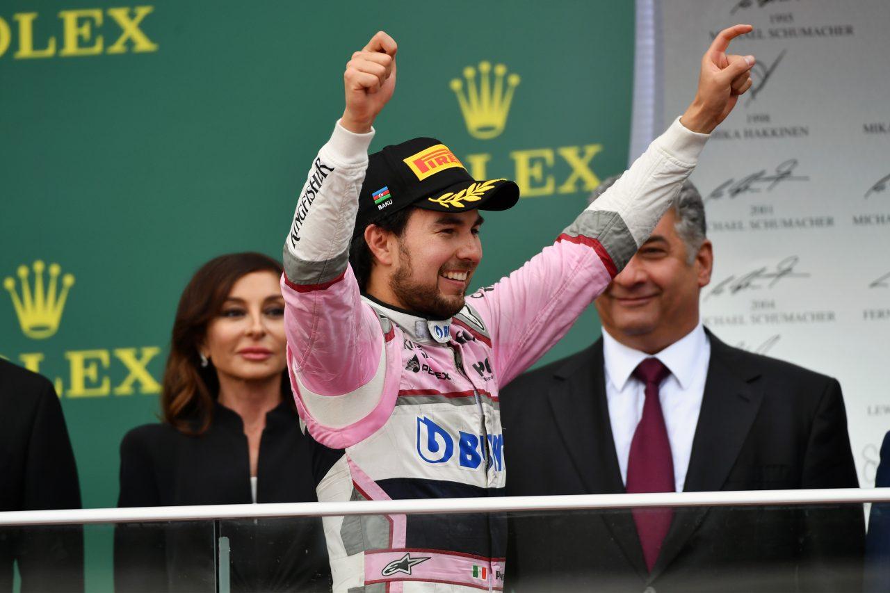 Checo Pérez y el podio con el que hizo historia en la F1