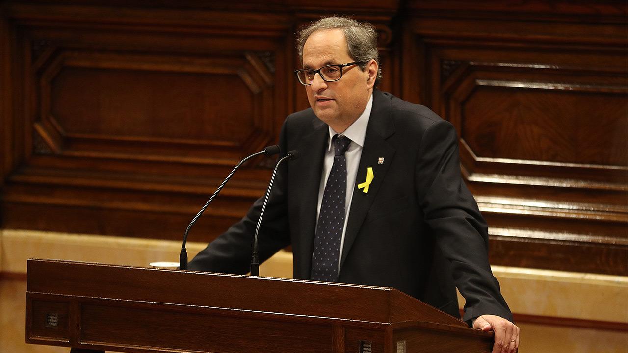 Parlamento catalán elige a Quim Torra nuevo presidente de la Generalitat