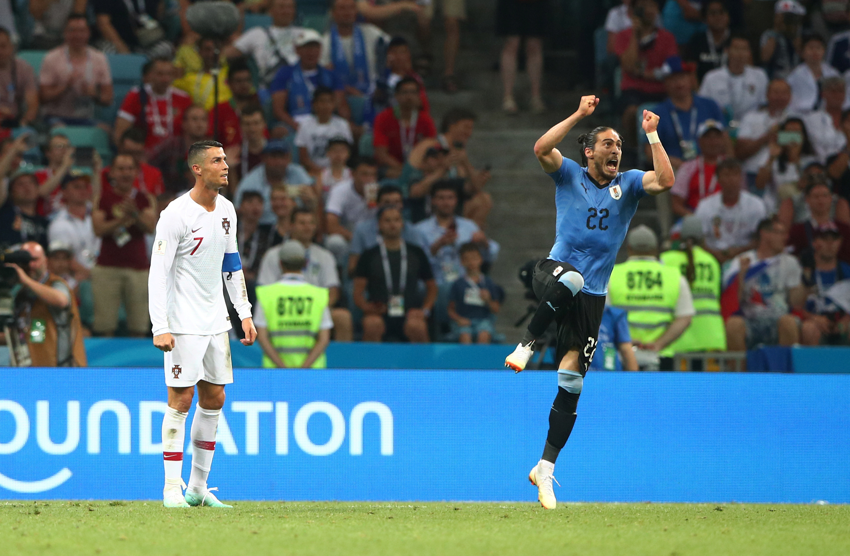 ¡Adiós también a Cristiano! Uruguay derrota a Portugal