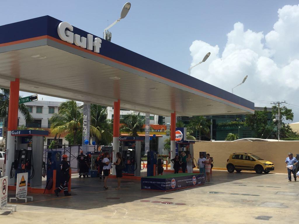 Gulf pretende abanderar 250 gasolineras al cierre de 2018