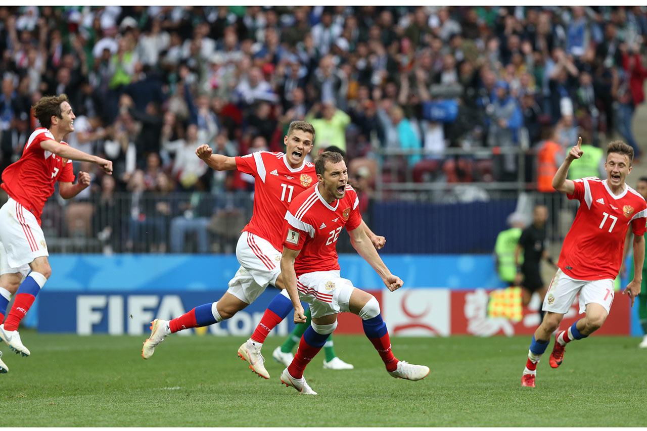 Rusia golea en su debut mundialista a Arabia Saudí