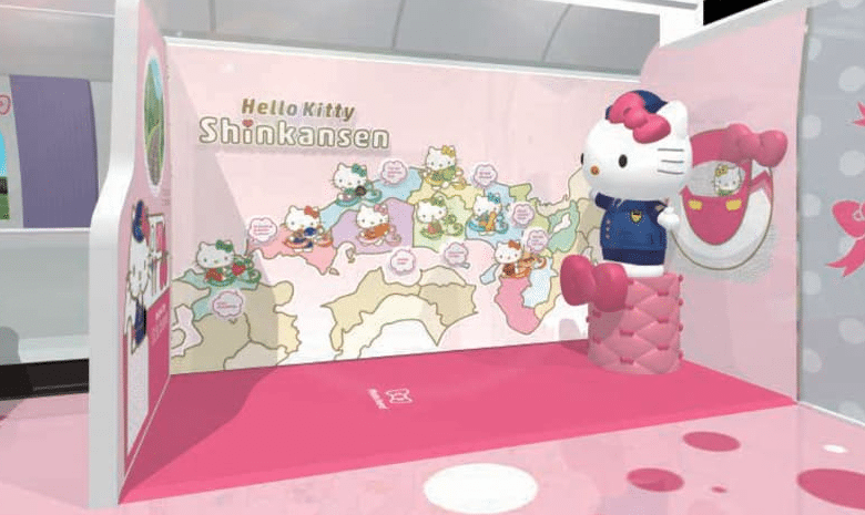 Hello Kitty, tren, Japón
