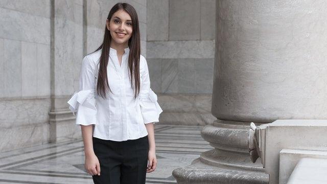 Daniela Liebman en el Palacio de Bellas Artes, CDMX. Foto: Angélica Escobar/Forbes México.