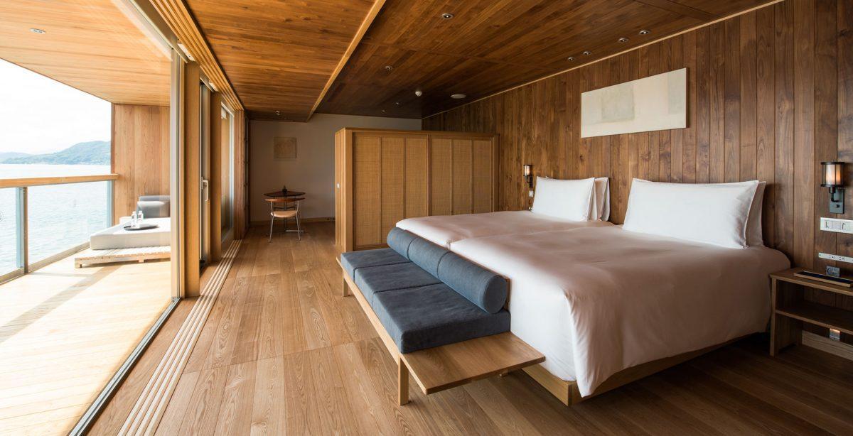 A bordo de Guntû, el hotel de lujo flotante de Japón