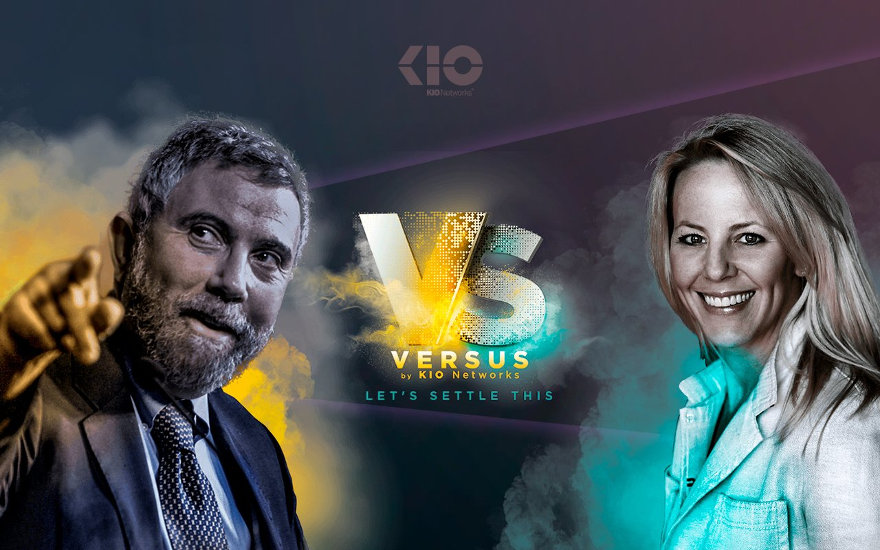 Paul Krugman enfrenta a Kathryn Haun sobre criptomonedas en VERSUS, evento de KIO Networks