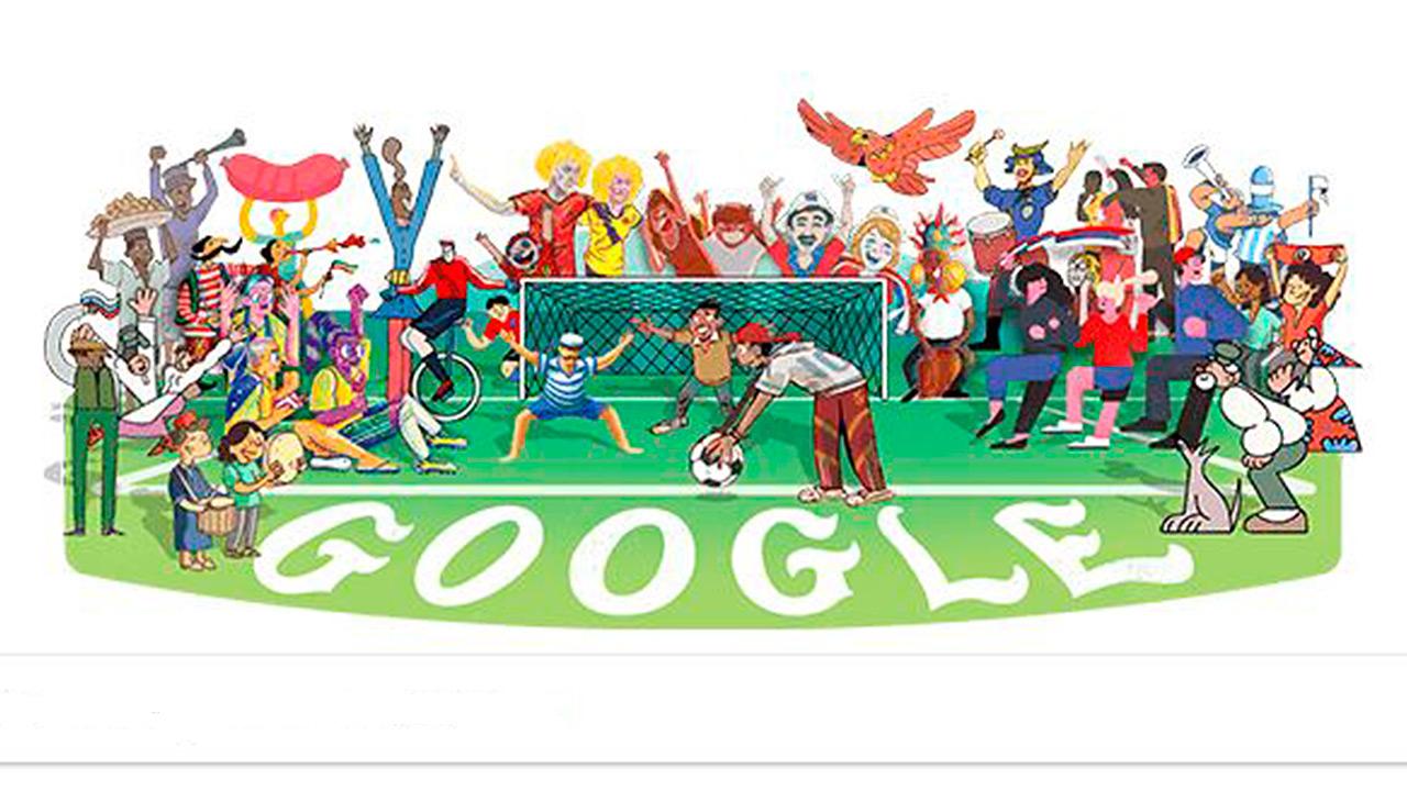 Google celebra el inicio de Rusia 2018 con un doodle futbolero