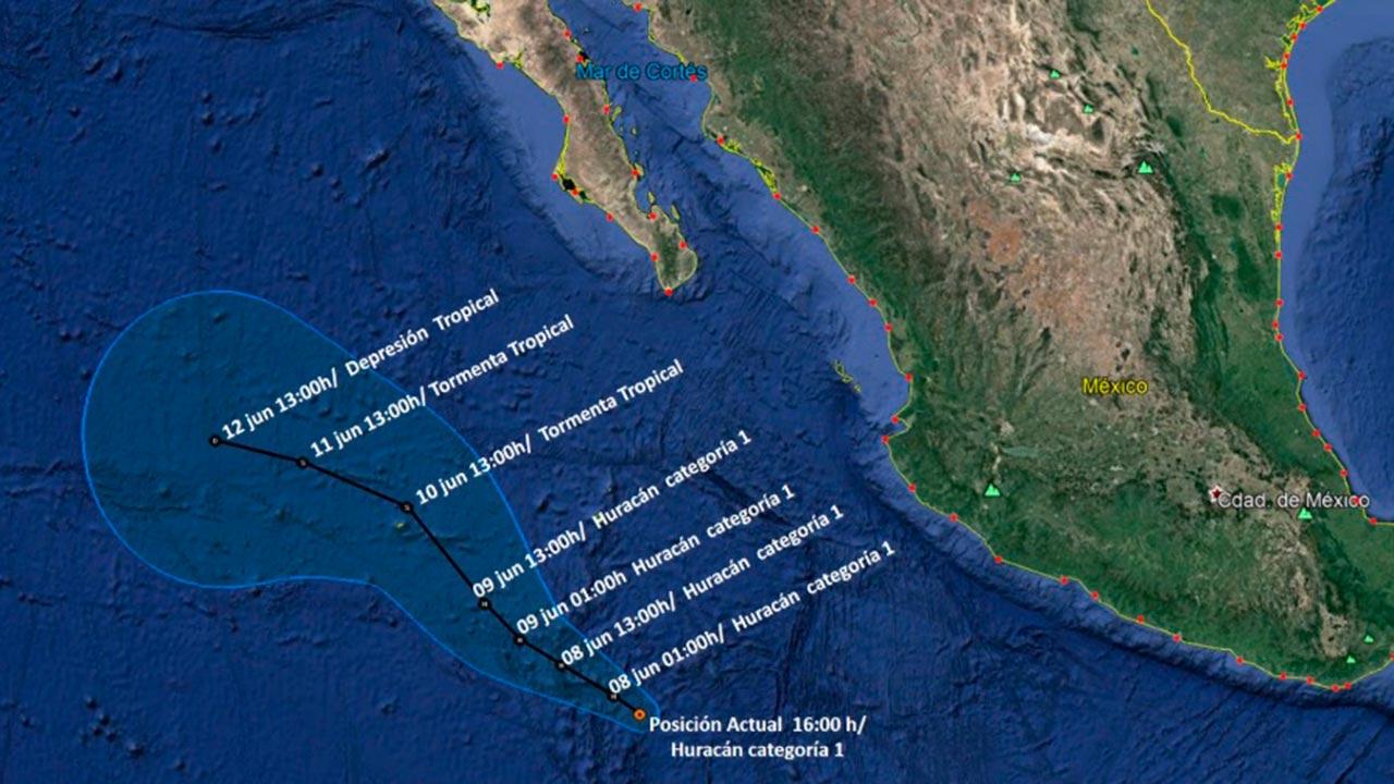 El primer huracán de la temporada se forma en el Pacífico