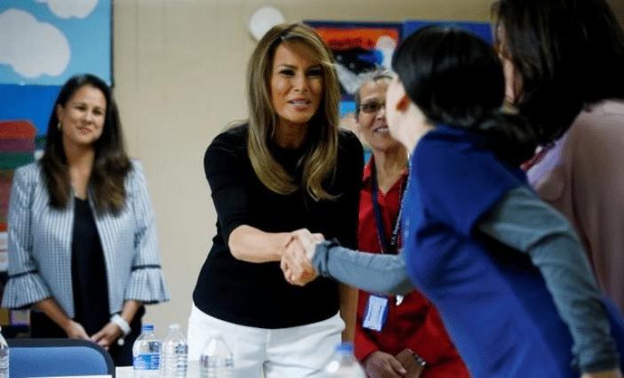 Melania Trump llega a Arizona para visitar centro de control fronterizo
