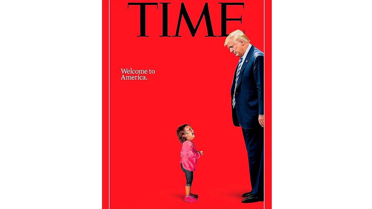 Time ilustra el conflicto de Trump con los niños en la frontera