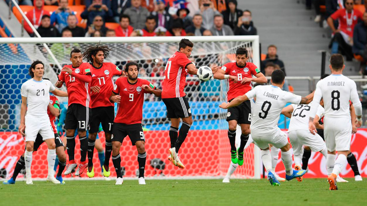Uruguay sufre para ganar a Egipto en el segundo partido del Mundial