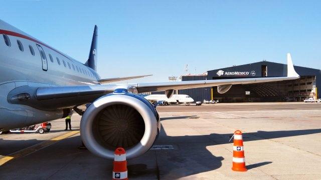 Avión de Aeroméxico en el Aeropuerto Internacional de la Ciudad de México. Foto: Angélica Escobar/Forbes México.