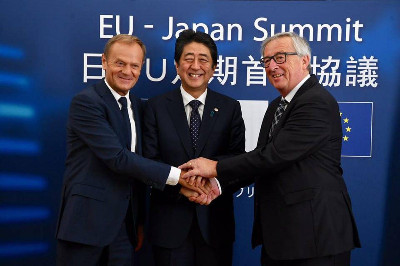 UE y Japón liberan, aún más, sus intercambios con guerra comercial de fondo