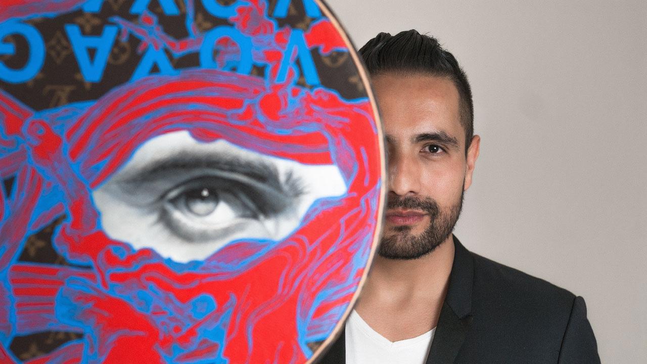 Gildo Medina realiza una intervención artística para Louis Vuitton