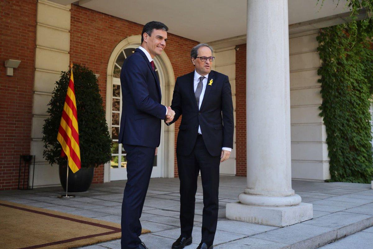 Presidente de España y líder catalán inician deshielo en relaciones