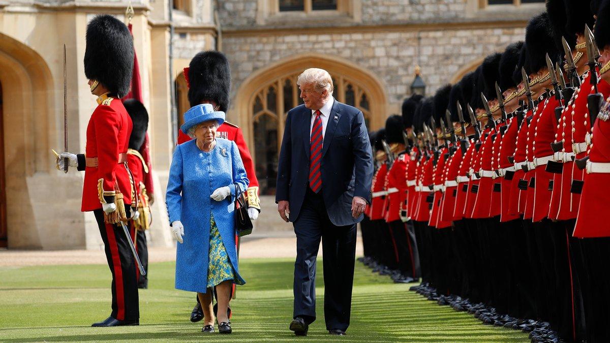 Donald Trump se reúne con reina Isabel en el Castillo de Windsor