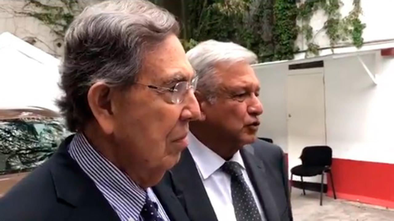 López Obrador se reúne con Cuauhtémoc Cárdenas