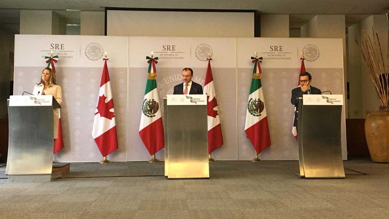 México y Canadá defenderán que el TLCAN siga siendo trilateral