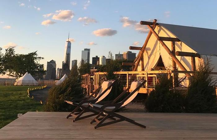 Glamping en una isla, el hospedaje de moda en Nueva York