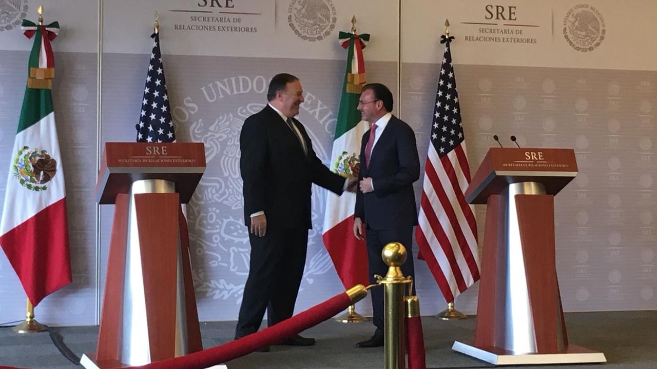 Pompeo y Videgaray destacan éxito en negociación comercial