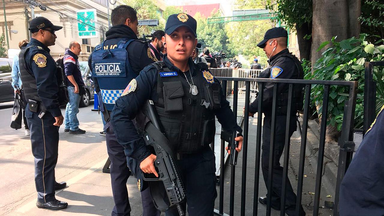 Fuerte cerco de seguridad para visita de delegación estadounidense