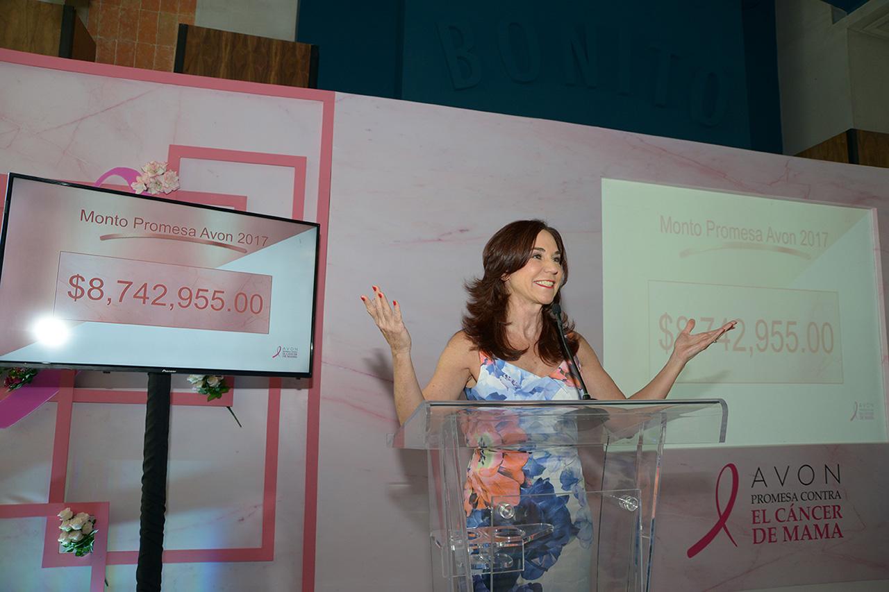 Avon dona más de 8 millones de pesos a la lucha contra el cáncer