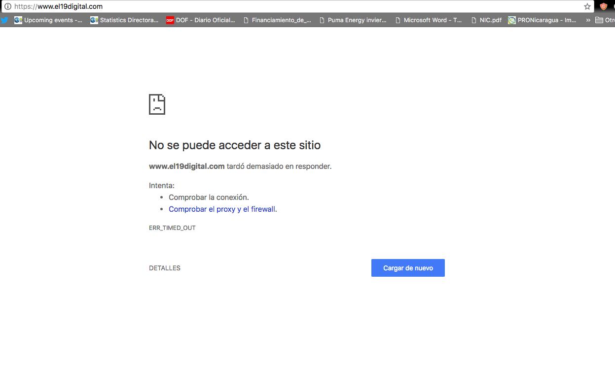 Portal del Gobierno de Nicaragua sufre ataque de Anonymous