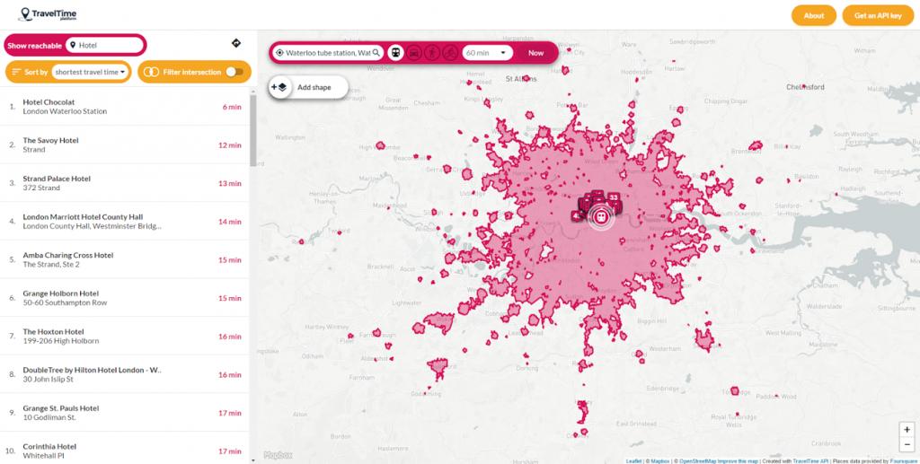 Resultado de imagen para traveltime maps app