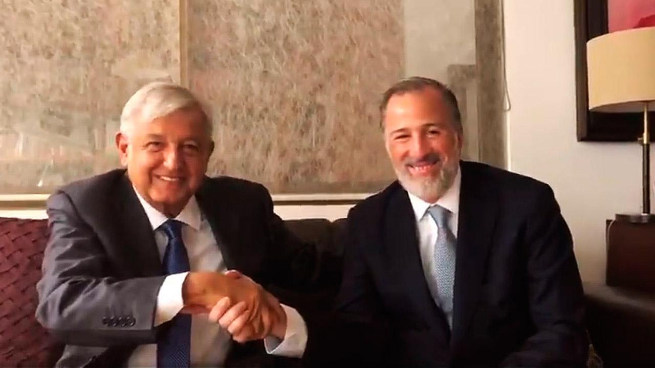 López Obrador hace las paces con José Antonio Meade