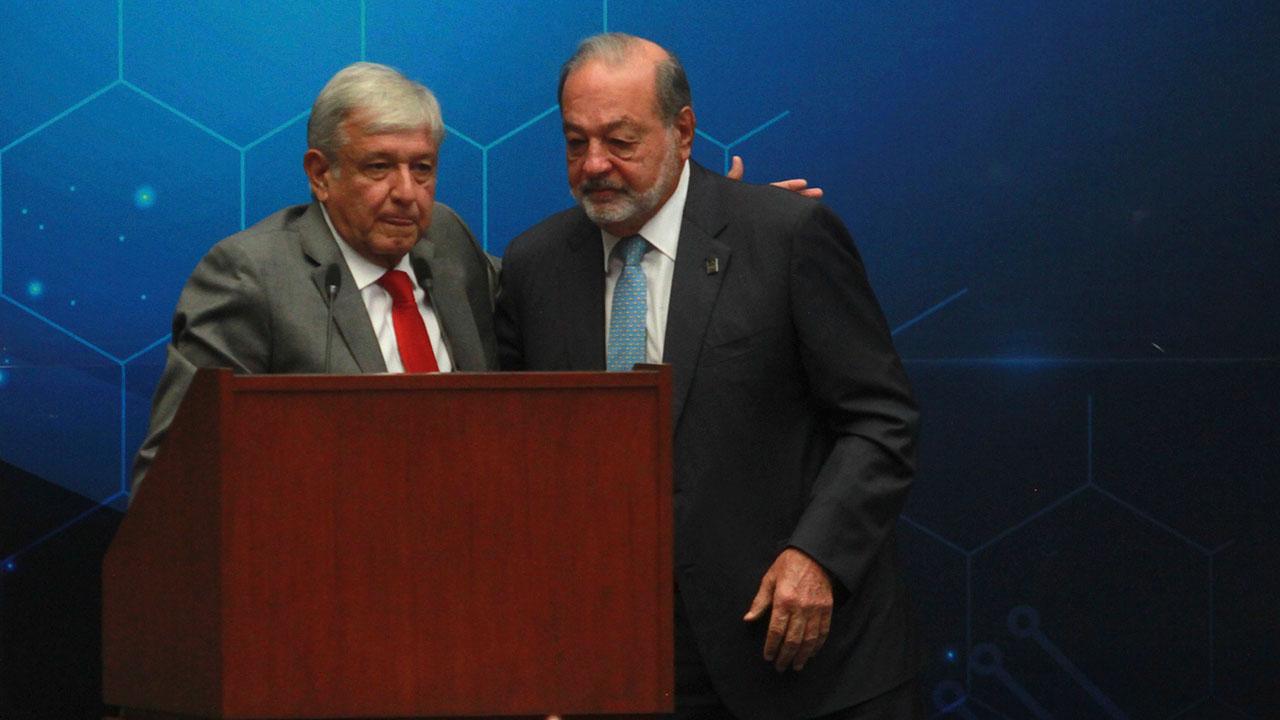 AMLO revela supuesto complot para que Slim fuera presidente