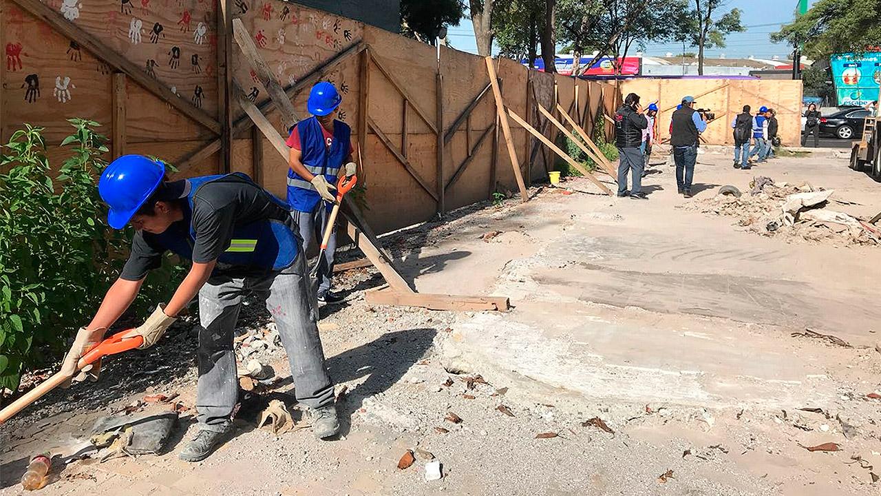 Inicia construcción de edificio para damnificados por sismos en Tlalpan