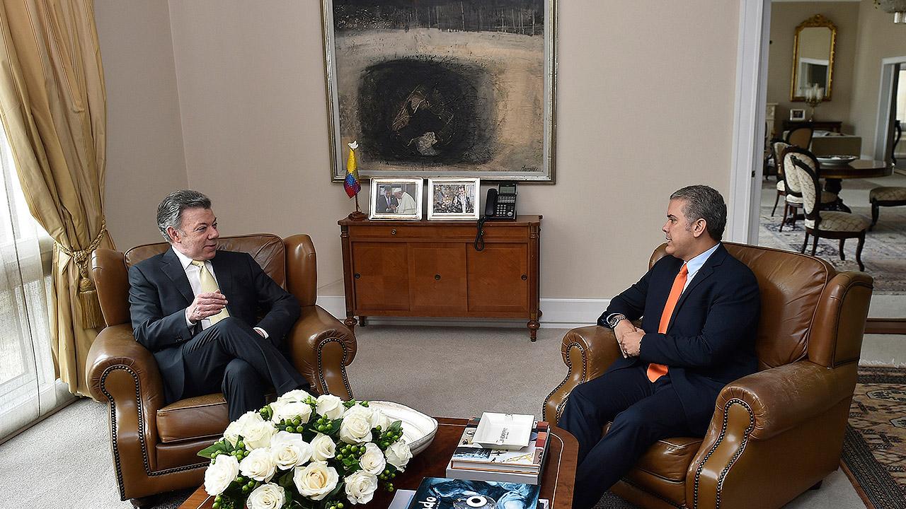El principio de la paz en Colombia, la herencia de Santos a Duque